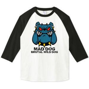 MAD DOG ラグラン七分袖Tシャツ