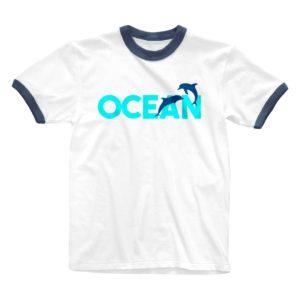 OCEAN リンガーTシャツ