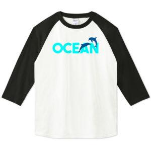 OCEAN 七分袖Tシャツ