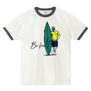 BE FREE リンガーTシャツ