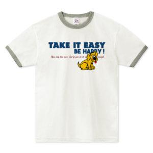 TAKE IT EASY リンガーTシャツ