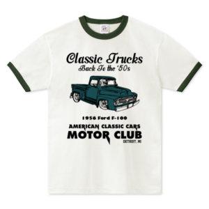 OLD TRUCK リンガーTシャツ