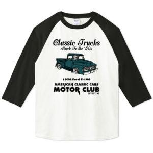 OLD TRUCK 七分袖Tシャツ