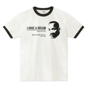 MARTIN LUTHER KING  リンガーTシャツ
