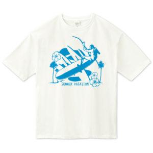 LONG BORDER ビッグシルエットTシャツ