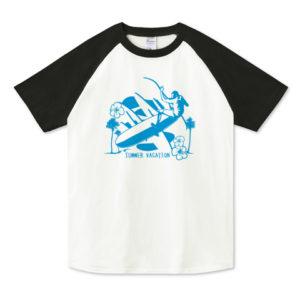 LONG BORDER ラグランTシャツ