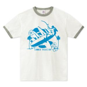 LONG BORDER リンガーTシャツ
