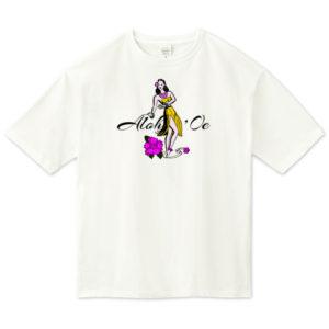 HULA GIRL ビッグシルエットTシャツ