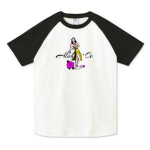 HULA GIRL ラグランTシャツ