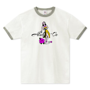 HULA GIRL リンガーTシャツ