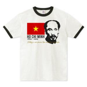 HO CHI MINH リンガーTシャツ