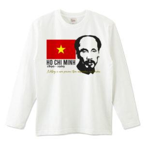 HO CHI MINH 長袖Tシャツ