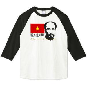 HO CHI MINH 七分袖Tシャツ